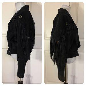 Vintage Jackets & Coats - Vintage leather Learsi fringe jacket.
